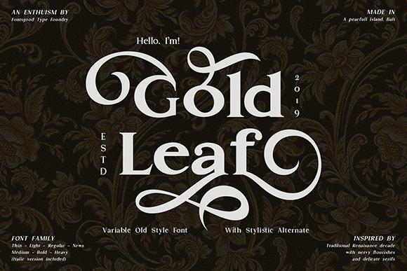 Gold Leaf - Variable Font